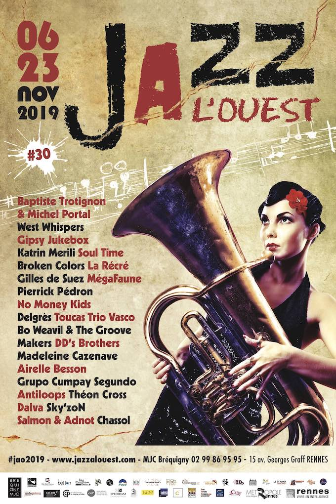 Airelle Besson, Madeleine Cazenave, Michel Portal, Baptiste Trotignon, Theon Cross, Delgres & Christophe Chassol... au programme de Jazz à l'Ouest ! (du 6 au 23 novembre 2019)