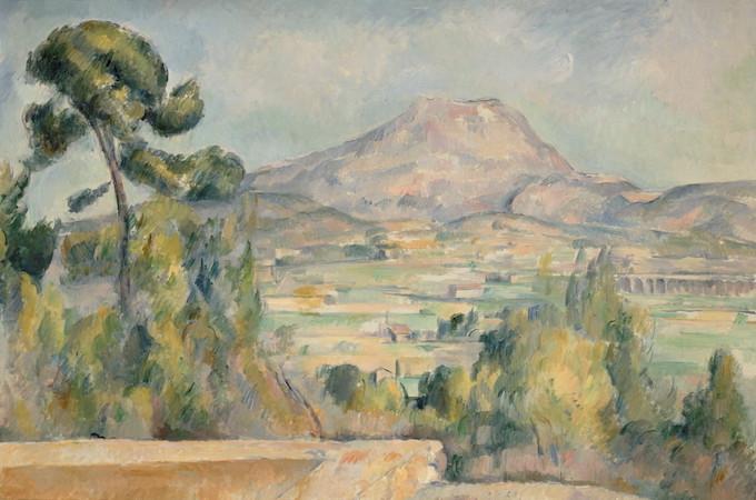 Paul Cézanne, La Montagne Sainte-Victoire, vers 1887-1890, Huile sur toile, 65 x 95,2 cm Paris, musée d'Orsay