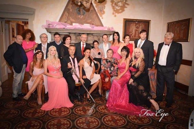 soirée de gala- pink party à la Villa Cesarina  photo fox eye Brigitte Arakel