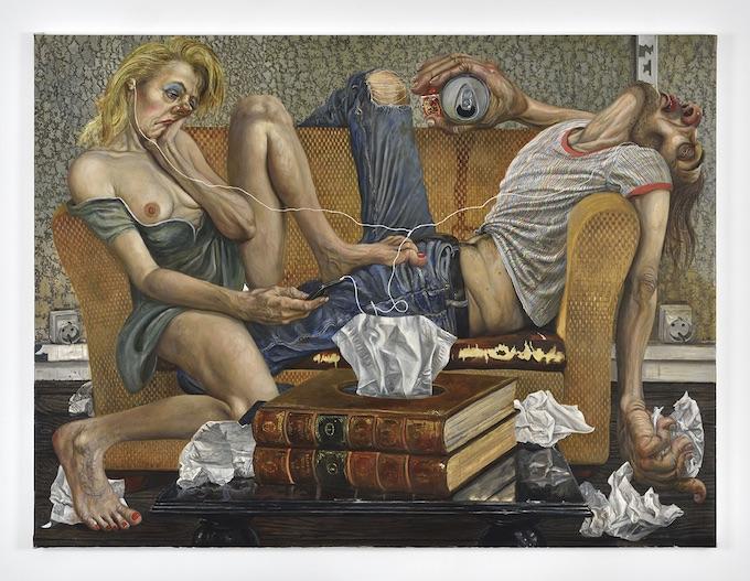 Kleenex, 2019. Huile sur toile, 95x127 cm. Marcos CARRASQUER