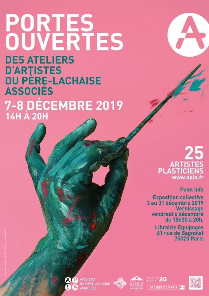 Portes ouvertes des Ateliers du Père Lachaise Associés, Paris, du 7 au 8/12/19
