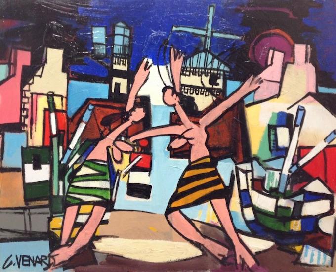 «La danse», huile sur toile, 81 x 100 cm
