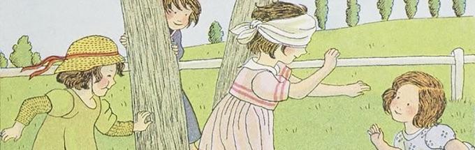 Jeux d'enfants, Colin-Maillard, par Marie-Madeleine Franc-Nohain © Gallica-BnF