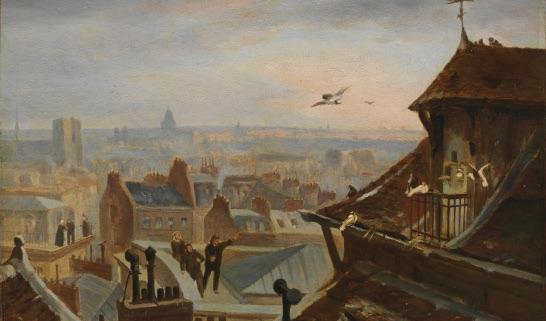 Jules Didier et Jacques Guiaud, n°17, Les pigeons messagers, mois de novembre. Dépôt du Musée Gassendi, Ville de Digne-les-Bains. Cliché : CICRP – Caroline Martens