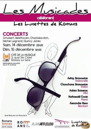 Romans/Isère, Les Musicades, musique, littérature et gourmandise, 14 et 15 décembre Cité de la musique