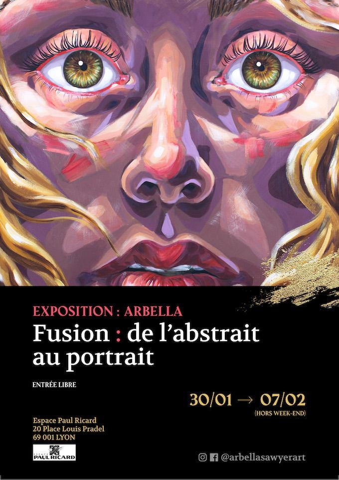 Exposition Arballa « Fusion : de l'abstrait au portrait », espace Paul Ricard, du 30 janvier au 7 février 2020 à Lyon
