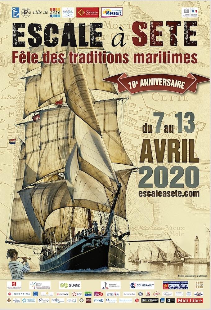 Du 7 au 13 avril 2020, Escale à Sète fêtera ses 10 ans !