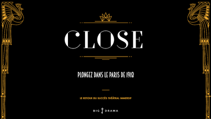 « Close », spectacle de théâtre immersif le 28 Janvier 2020 (Paris XI)