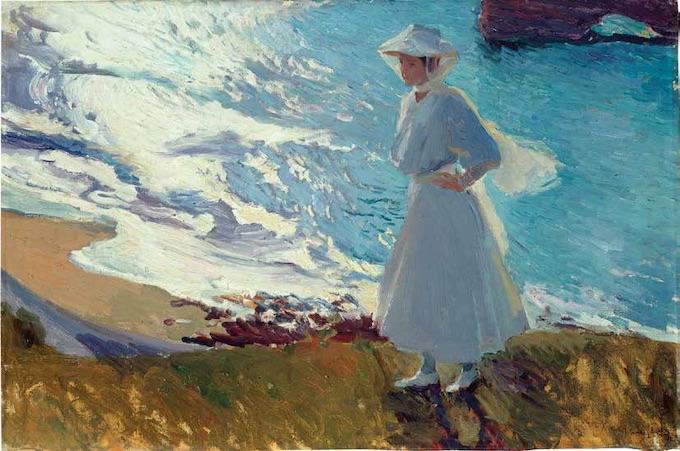 Joaquín Sorolla, María sur la plage de Biarritz, ou Contre-jour, Biarritz, 1906, huile sur toile, 63 x 92 cm, Museo Sorolla © Fotografias Museo Sorolla, Madrid
