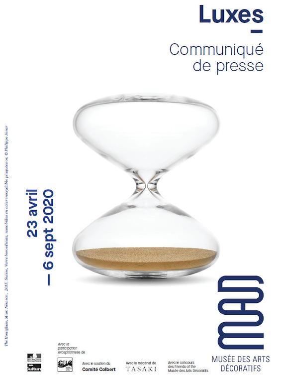Exposition Luxes, Musée des arts décoratifs, Paris, du 23 avril au 6 septembre 2020