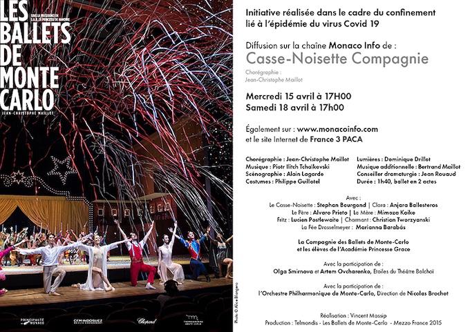 Diffusion exceptionnelle : Casse-Noisette Compagnie de J.C. Maillot avec Les Ballets de Monte-Carlo