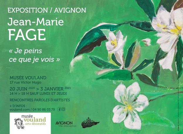 """Exposition """"Jean-Marie Fage, je peins ce que je vois"""" au Musée Vouland du 20 juin 2020 au 3 janvier 2021"""