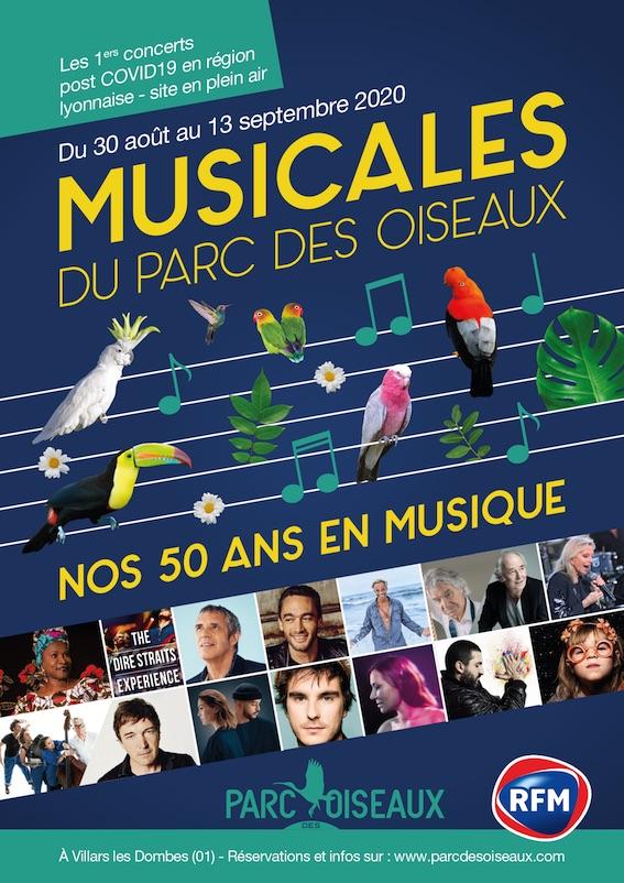 Villars les Dombes, Musicales du Parc des oiseaux. L'édition 2020 aura lieu du 30 août au 15 septembre