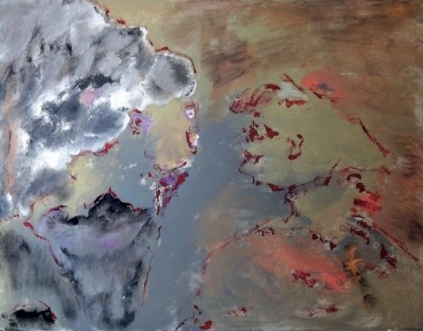 « Fresque de l'Après », peintures de Claudine Belmas-Grégoire, expo du 8 au 20 juillet 2020 à Ailhon (07)