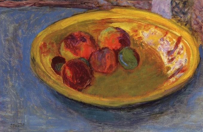 Bonnard, Assiette de fruits, étude, 1930
