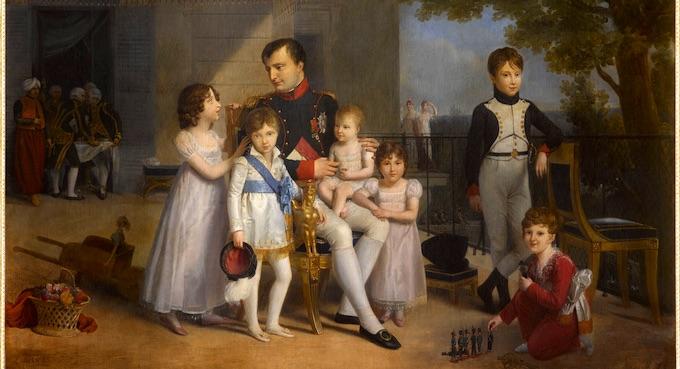 L'empereur Napoléon Ier et ses neveux et nièces sur la terrasse du château de Saint-Cloud. Louis Ducis (1775-1847) 1810 Huile sur toile