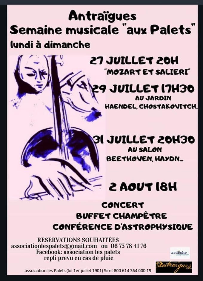 Ardèche. Festival Les Palets à Antraigues sur Volane jusqu'au 2 août 2020