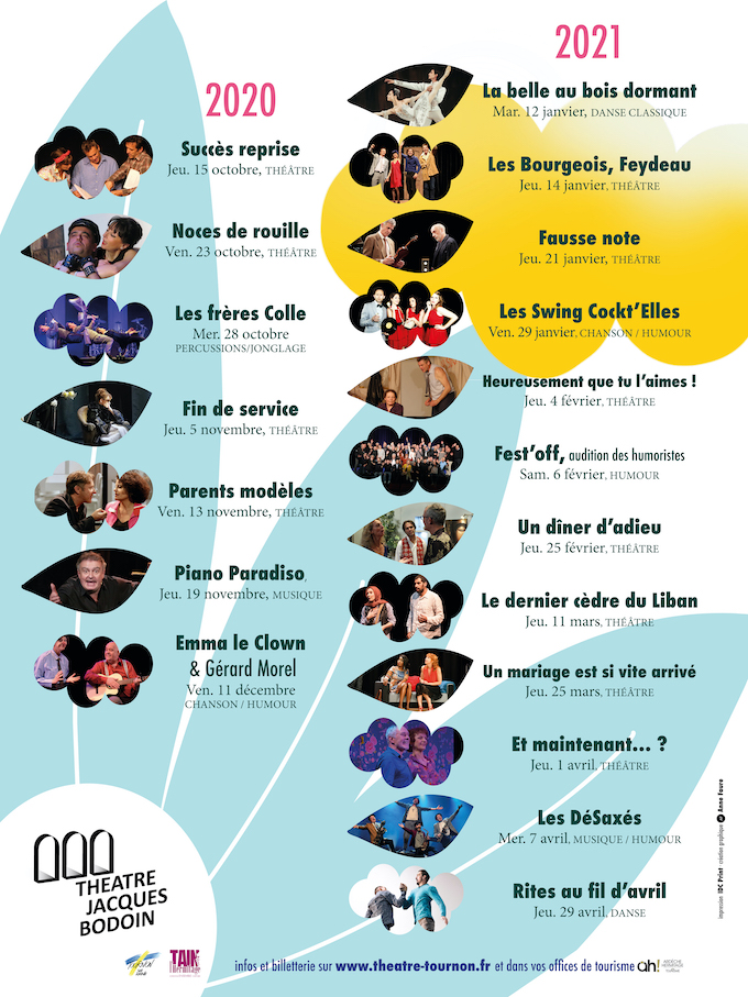 Ouverture des abonnements de la nouvelle Saison Spectacles à Tournon sur Rhône et Tain l'Hermitage
