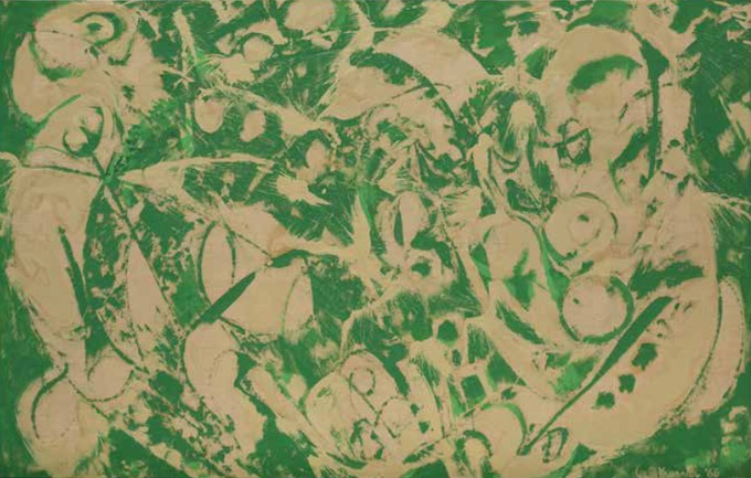 Lee Krasner Sirène, 1966 Huile sur toile 128,6 x 206,1 cm. Smithsonian Institution, Washington D.C. © The Pollock-Krasner Foundation.