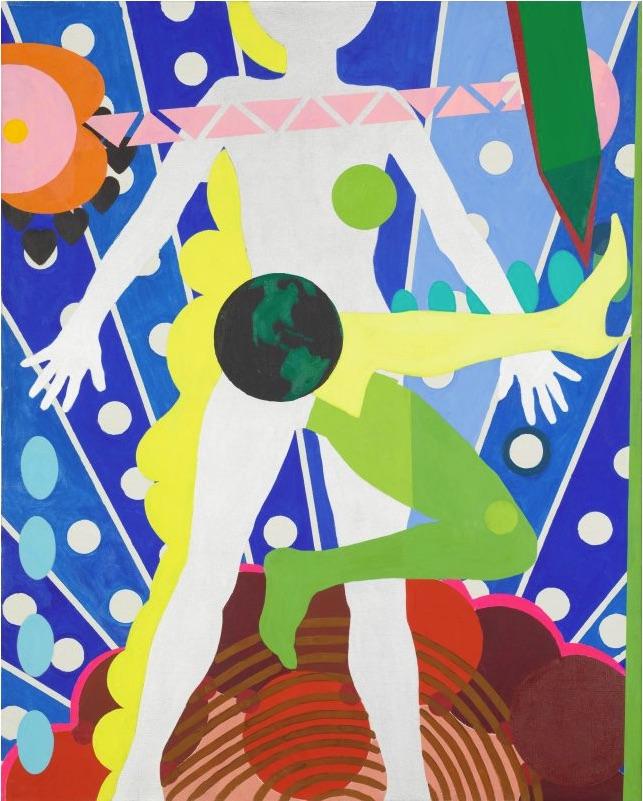 Kiki Kogelnik, Miss Universe, 1963 Huile et acrylique sur toile, 152.15 × 121.92 cm Courtesy Galerie Natalie Seroussi, © 1963 Kogelnik Foundation