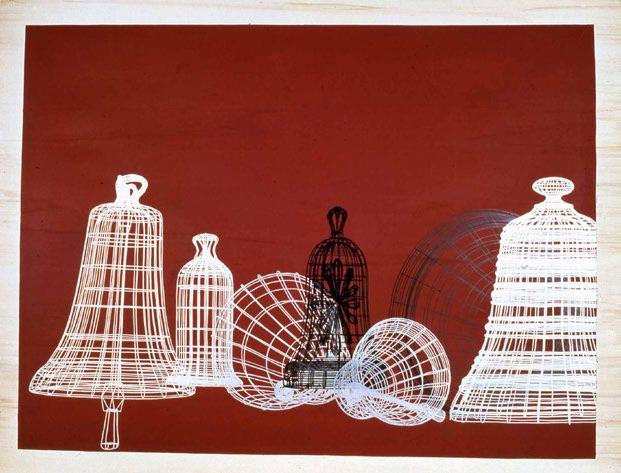 Thomas Huber, Geläute, 2000, Feutre et acrylique sur bois 172 x 222 cm, Col. Frac des Pays de la Loire @ H. Jaccaud