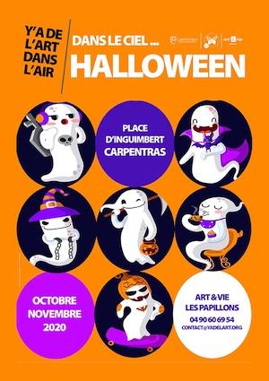 Carpentras. Dans le ciel d'Halloween, octobre et novembre 2020