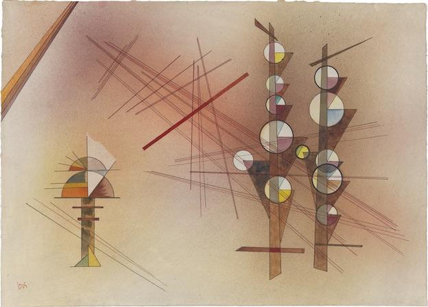 Vasily Kandinsky Impassible (Unerschüttert), février 1929 Aquarelle et encre sur papier 35,4 × 49,1 cm The Hilla von Rebay Foundation, prêt à long terme au Solomon R. Guggenheim Museum, New York