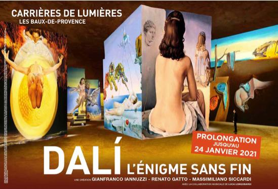 Les Baux de Provence, Carrières de Lumières, réouverture le 15 décembre 2020* & prolongation jusqu'au 24 janvier 2021