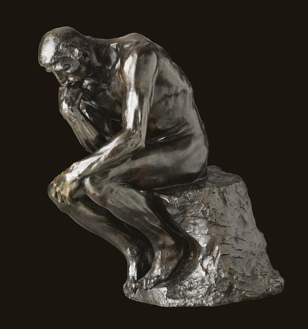 Auguste Rodin, Le Penseur, taille originale, 1880/1882, 72 x 34 x 53 cm, MAH, Genève © MAH, Genève, Photo Flora Bevilacqua