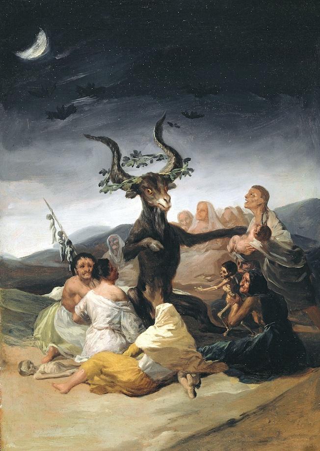 Francisco de Goya, Le Sabbat des sorcières (El Aquelarre), 1797/98. Huile sur toile 43 × 30 cm - Museo Lázaro Galdiano, Madrid - Fundación Lázaro Galdiano, Madrid