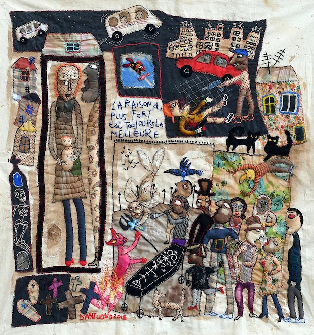 Barbara d'Antuono « Sortilège »2019 Tableau textile