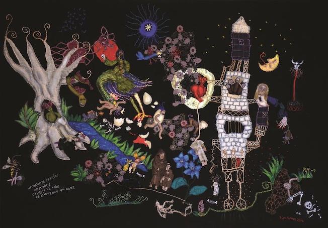 Barbara d'Antuono « Pensée obscure » -2014 Tableau textile