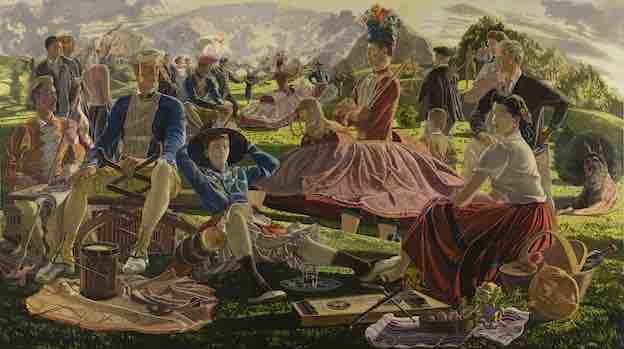 José Maria de Ucelay. Danses souletines (Danzas suletinas), c. 1956. Huile sur toile 152,4 x 270,3 cm. Collection BBVA © José María Ucelay
