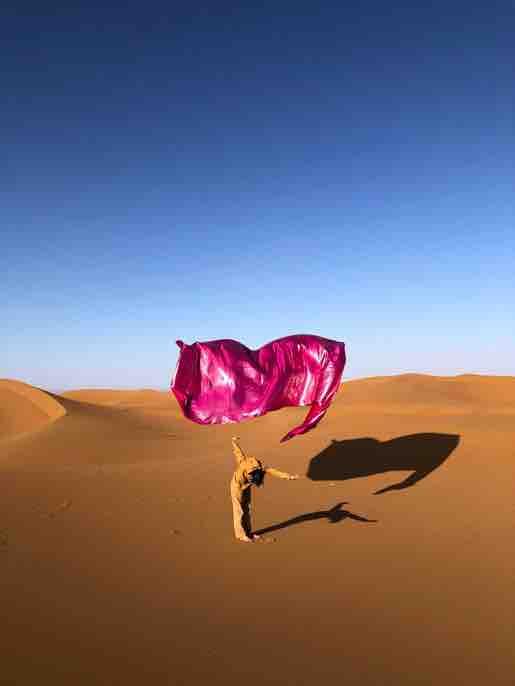 Ismail Zaidy (avec Hanin Tarek), Desert Rose, 2020 Photographie. OEuvre réalisée lors de la résidence d'Hotel Sahara