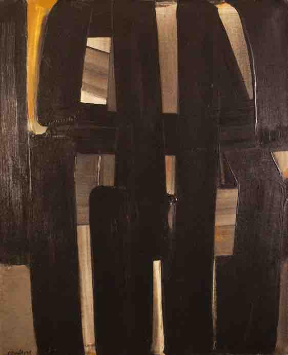 Pierre Soulages, Peinture, 92 x 73 cm, 3 avril 1974 Huile sur toile