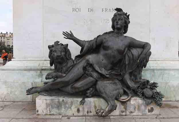 Nicolas Coustou, La Saône. Bronze, H. 236 ; L. 327 cm ; Pr. 125 cm © Muriel Chaulet / Ville de Lyon