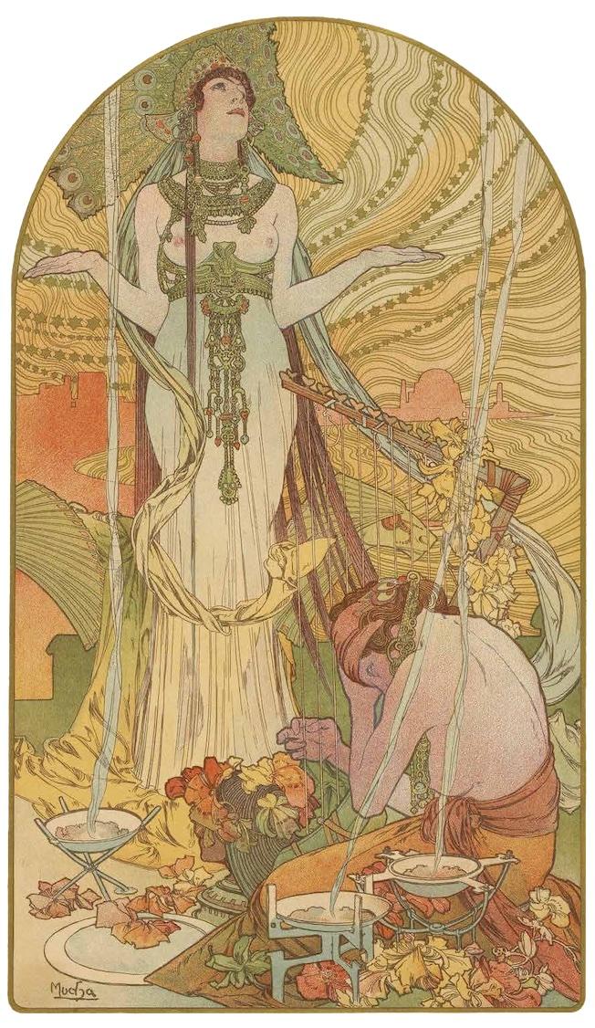 Alfons Mucha, Salammbô, 1897, lithographie, Rouen, Bibliothèque Villon