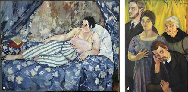 Suzanne Valadon, La Chambre bleue, 1923, Musée national d'art moderne et Portrait de famille, 1912, Huile sur toile, Paris, musée d'Orsay