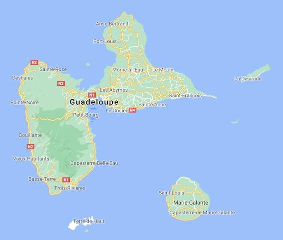 Guadeloupe © Google Maps
