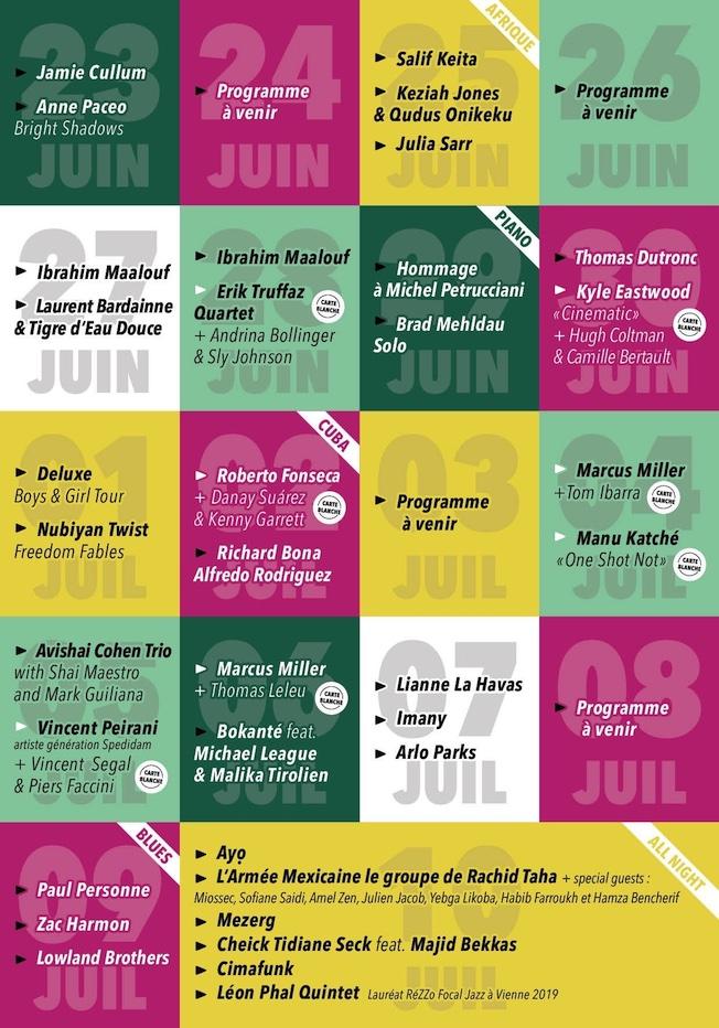 Jazz à Vienne 2021, la programmation !