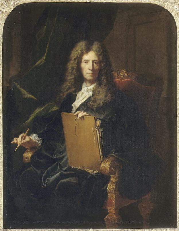 Portrait de Pierre Mignard. Hyacinthe Rigaud, 1690, Huile sur toile  © RMN-GP, château de Versailles