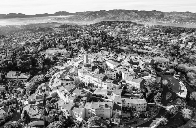 Mougins, vue aérienne, © Drone away – Demartini, 2014