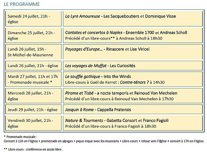 12e Festival Valloire baroque, «Héros ou demi-dieux figures mythologiques pour contre-ténors», du 24 au 30 juillet 2021