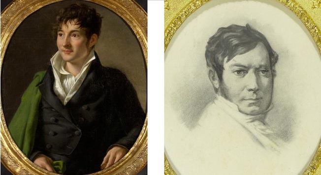 Jacques-Joseph Champollion-Figeac, vers 1800 et Jean-François Champollion, vers 1830. © Département de l'Isère / Musée Champollion