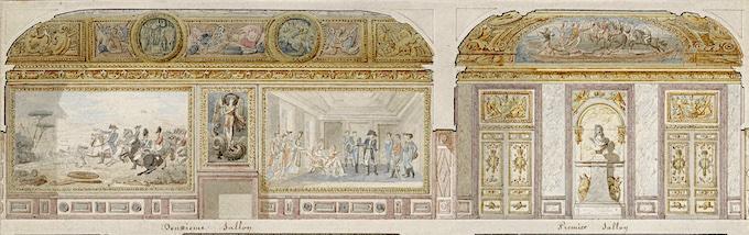 Projet de décor des appartements de l'Empereur et de l'Impératrice au château de Versailles, Jacques Gondoin (1737-1818), vers 1807 © RMNGP, F. Raux
