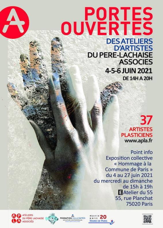 Paris, 37 artistes des Ateliers du Père Lachaise Associés ouvrent leurs portes dans le 20e du 4 au 6 juin 2021