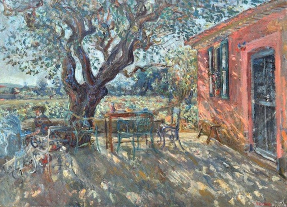 Constantin TERECHKOVITCH - La terrasse à Saint-Tropez, 1941