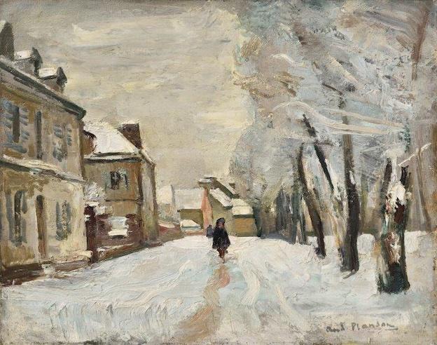 André PLANSON - La neige à La Ferté-sous-Jouarre, circa 1929