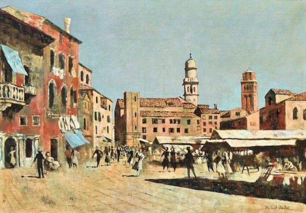 Roland OUDOT - Campo Santa Margherita, Venise 1961