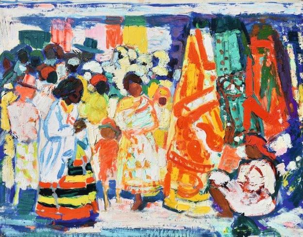Roger LIMOUSE - Marchande d'étoffes à Tananarive, 1975